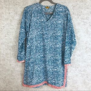 Roberta Roller Rabbit Fish Print Tunic